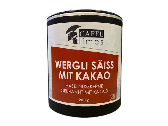 Gebrannte Haselnusskerne mit Kakao